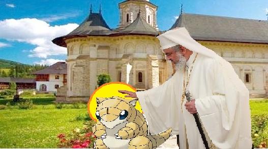 Patriarhul Daniel a canonizat un pokemon la Putna